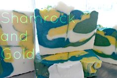 Shamrock and Gold Whipped Soap