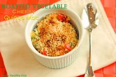 Roasted Vegetable Cheesy Quinoa Mac | Healthy Ideas for Kids #quinoa #plantbasedprotein