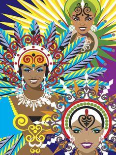 Women in Costumes for Carnival in Rio De Janeiro, Brazil Prints at AllPosters.com