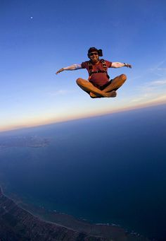 Skydiving with style. Smile!