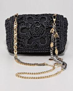 Dolce & Gabbana. Miss Charles Crochet Shoulder Bag.