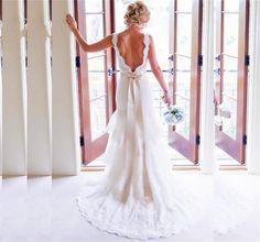Hochzeitskleider - Schlank Spitze Brautkleider Kleider - ein Designerstück von iViWeddingDress bei DaWanda
