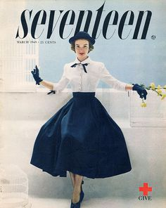 Seventeen magazine cover, March 1949
