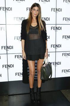 Bianca Brandollni D'adda  Front Row Fendi Spring 2015