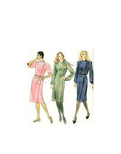 80s dress pattern, casual dress pattern smart casual dress Retro dress pattern vogue sewing pattern 80s sewing pattern 80s dress pattern