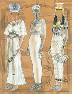 Ancient Egypt ©: [Queen Nefertiti and. Ancient Egyptian Clothing, Ancient Egyptian Costume, Ancient Egypt Fashion, Ancient Egypt Crafts, Egyptian Fashion, Ancient Aliens, Ancient History, Egyptian Jewelry, Egyptian Art