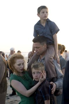 The Tree of Life [2011] directed by Terrence Malick, starring Brad Pitt, Sean Penn, and Jessica Chastain.
