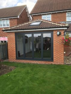 Photos of our work. Contact us for a free, no obligation quote, sales@nationalwindowsystems.co.uk or 01325 381630 ( Solid Roof / Garden Room / Sun Room / Extension / Conservatory / Tiled Roof / Windows / Doors / Bi-Folds / Bi-Folding Doors / Fixed Frames / Anthracite Grey / RAL 7016 / RAL7016 / Guardian Roof / Warm Roof / Velux Windows )