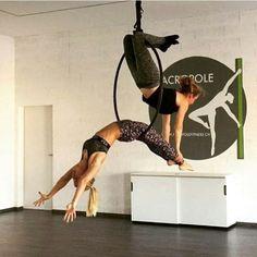 Aerial hoop doubles