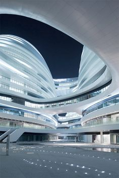 Design Museum London Shortlists the Designs of the Year 2013 - Galaxy Soho, Beijing, China by Zaha Hadid. Zaha Hadid Architecture, Architecture Unique, Futuristic Architecture, Interior Architecture, Building Architecture, Amazing Buildings, Modern Buildings, Office Buildings, Architectes Zaha Hadid