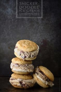 Snickerdoodle Ice Cream Sandwiches | Bakers Royale
