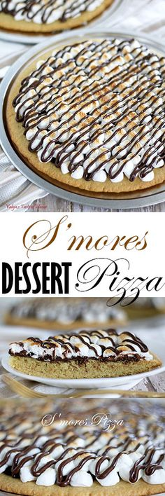 This baked pizza tastes just like your typical S'mores. And it's super easy to make! You bake the crust ahead of time, and then assemble the pizza topping; all that's left to do is to broil it for 1- 2 minutes. It will look really beautiful on your dessert table!