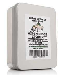 "Survival Kit- ""Get Back"" Survival Kit With Fire Starter Kit and Emergency Mylar Blanket By Aspen Ridge Aspen Ridge Sports http://www.amazon.com/dp/B00ROT60AE/ref=cm_sw_r_pi_dp_W7WKwb144116R"