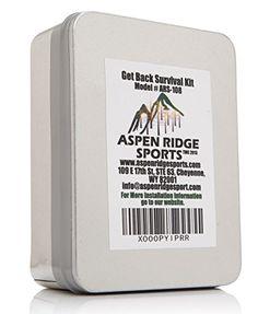 "Survival Kit- ""Get Back"" Survival Kit With Fire Starter Kit and Emergency Mylar Blanket By Aspen Ridge Aspen Ridge Sports http://www.amazon.com/dp/B00ROT60AE/ref=cm_sw_r_pi_dp_W7WKwb144116R"