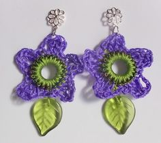 Ravelry: Spring Flower Crocheted Earrings pattern by Angela Saylor