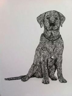Dog Zentangle