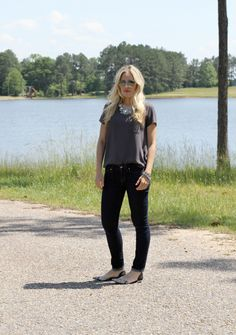 Casual look with a Statement necklace on CaliCrest.com