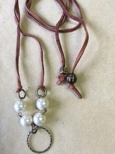 wrap leather choker by Pamrepurposedjewelry on Etsy
