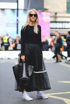 Die besten Streetstyles der London Fashion Week Spring/Summer 2017…