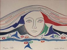 Francoise Gilot (b 1921, France) - Oceanic Woman 1986, pastel drawing on paper Private Collection, Los Angeles -- Gilot is a painter and bestselling author. She is also known as the lover and artistic muse of Pablo Picasso from 1944 to 1953, and the mother of his children, Claude Picasso and Paloma Picasso.