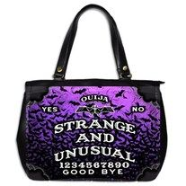 Strange Ouija large purse by Lttle Shop Of Horrors. GOTHIC, EMO, PSYCHOBILLY, BATS, SPIRITS, GHOSTS, DARK, PINUP