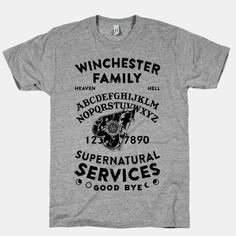 Winchester Family Ouija Board | HUMAN | T-Shirts, Tanks, Sweatshirts and Hoodies