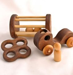 How fabulous is this???!!  Handmade wooden baby toys!!  Gorgeous!