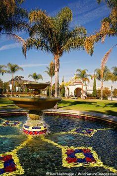 Gardens at the U.S. Naval Hospital, Balboa Park, San Diego, California