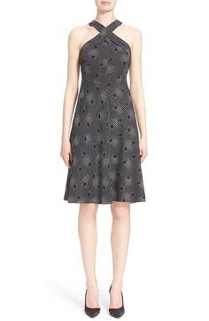 Nordstrom Signature and Caroline Issa Print Silk Twill Halter Dress