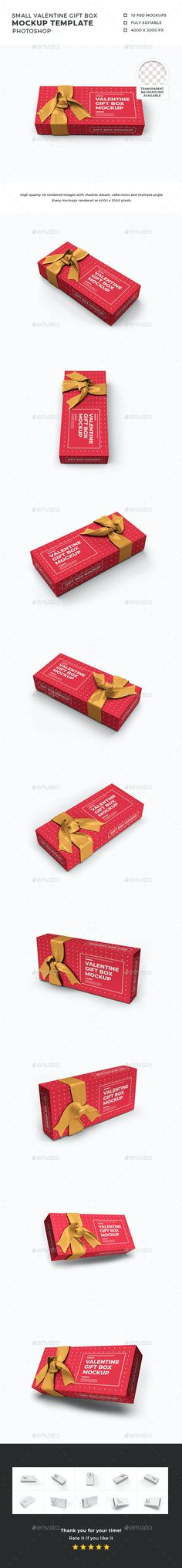 Valentine Gift Box Mockup Template