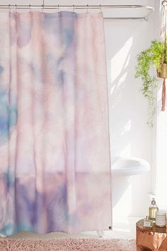 Slide View: 1: Chelsea Victoria For DENY Unicorn Marble Shower Curtain