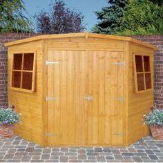 shire corner shed 8x8 image - Garden Sheds 7x7