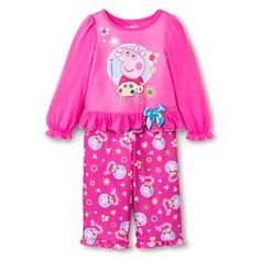 Peppa Pig Toddler Girls' Long-Sleeve Pajama Set - Pink