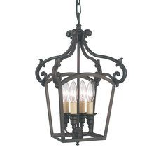 View the Royce RC2195%2F4HALL Tuscan Four Light Up Lighting Mini Chandelier from the Stalton Collection at LightingDirect.com.
