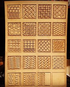 Tooling pattern samples for reference 2 Leather Armor, Leather Tooling, Tooled Leather, Leather Bags, Leather Craft Tools, Leather Projects, Custom Leather Belts, Handmade Leather, Leather Jewelry