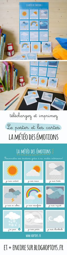 The weather of emotions: identifying sensitivities - - How To Speak French, Learn French, Montessori Activities, Infant Activities, School Teacher, Primary School, My English Teacher, Alternative Education, French Kids