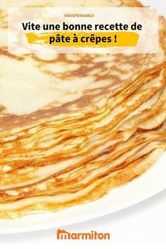 The recipe for pancake batter, easy, fast and delicious for all your pancake cravings (not just Candlemas) batter Vegetable Drinks, Healthy Eating Tips, Dairy Free Recipes, Pancakes, Italian Recipes, Meal Planning, Cravings, Breakfast Recipes, Food And Drink
