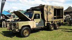 Australian Army Land Rover Perentie 6x6. Factory: galvanised chassis, Isuzu 4BD1 Turbo 3.9 diesel, wide body (zinc steel), PTO Winch.
