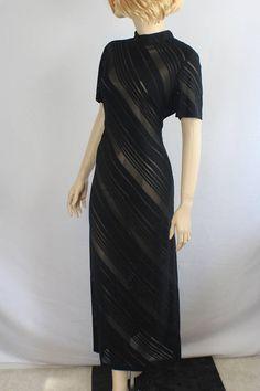 5f8e7e00218 80s prom dress large mesh large dress plus size black 1980s Dresses