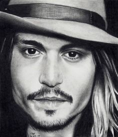 Johnny Depp portait. It amazes me that people can draw like this.