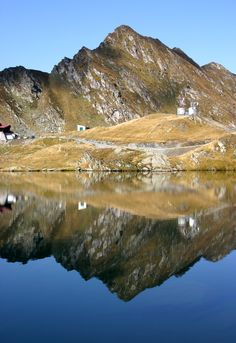 Balea Lake, Romania, reflection #mountain reflection at Balea Lake, #Romania #photo #photography #travel #Europe