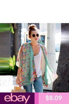 016f77c277a US Fashion Women Chiffon Cardigan Kimono Blouse Tops Beach Bikini Cover-Up  Shirt