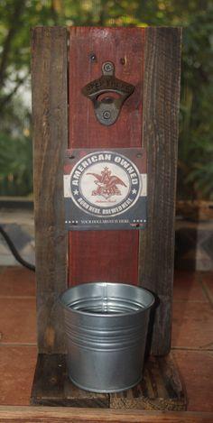 Wandflaschenöffner aus Holz Männer haben auch Gefühle 30 x 10 x 6 cm