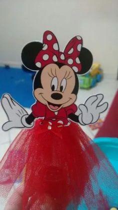 Personalizado Kit 10 Tubete Minnie Vermelha Com Tule