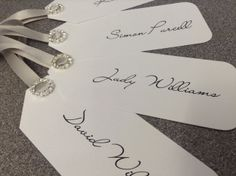Place card luggage tags.