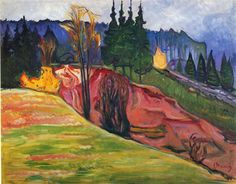 Edvard Munch -From Thuringewald -1905 -Expressionism