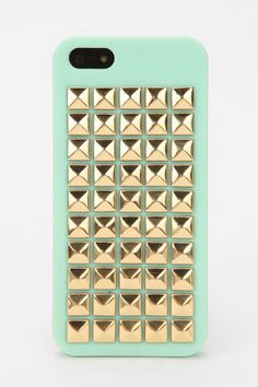 Pyramid-Stud iPhone 5 Case from Urban Outfitters. If I had an iPhone, I would die. Cute Phone Cases, 5s Cases, Iphone Phone Cases, Phone Covers, Iphone 5s, Cover Iphone, Apple Iphone, Urban Outfitters, Kate Spade Iphone