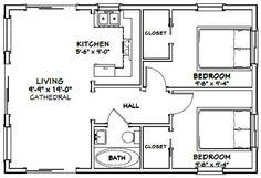 2 Bedroom Floor Plans, Small House Floor Plans, Cottage Floor Plans, Cabin Floor Plans, Cottage Plan, Best House Plans, A Frame Floor Plans, 2 Bedroom Apartment Floor Plan, Small Bathroom Floor Plans