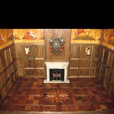 Tudor style 1:12 scale roombox by Virginia Benish of Ginny's Dollhouse http://ginnysdollhouse.vpweb.com