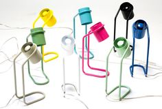 Product news: Croatian designer Filip Gordon Frank has put his paperclip-like Mini Me desk lamps into production under his new brand Polymorph. Mini Me, Lamp Design, Lighting Design, Lampe Metal, Modern, Contemporary, Office Interior Design, Paper Clip, Light Table
